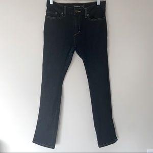 Betabrand Indigo Travel Skinny Jeans Dark Wash